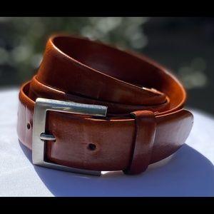 NW Bosca Canada 🇨🇦 Made Leather Belt, Sz 38/95
